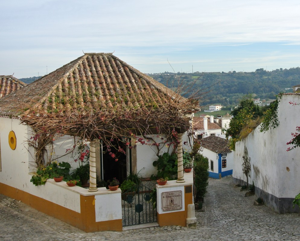 tradicional house in obidos portugal travel